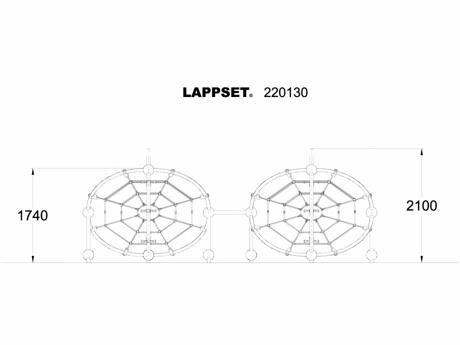 Pagina 1 - CAD-DWG Echipament de joaca pentru copii - 220130 LAPPSET Detaliu de produs CLOXX