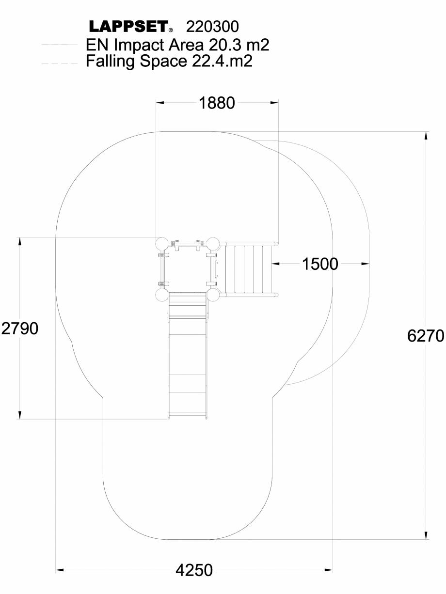 Pagina 1 - CAD-DWG Echipament de joaca pentru copii - 220300(1) LAPPSET Detaliu de produs CLOXX
