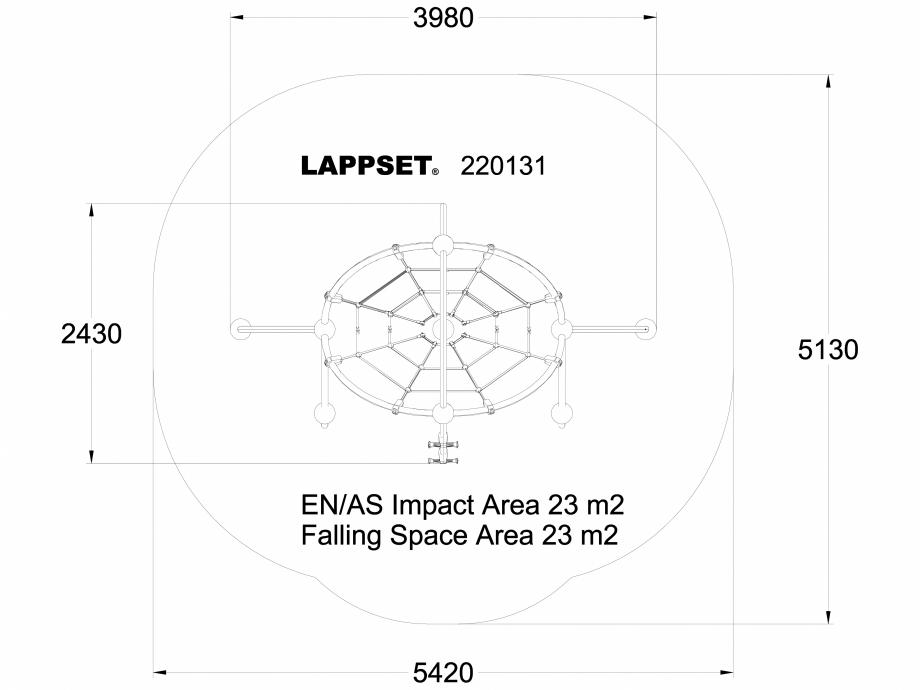 Pagina 1 - CAD-DWG Echipament de joaca pentru copii - 220131 LAPPSET Detaliu de produs CLOXX