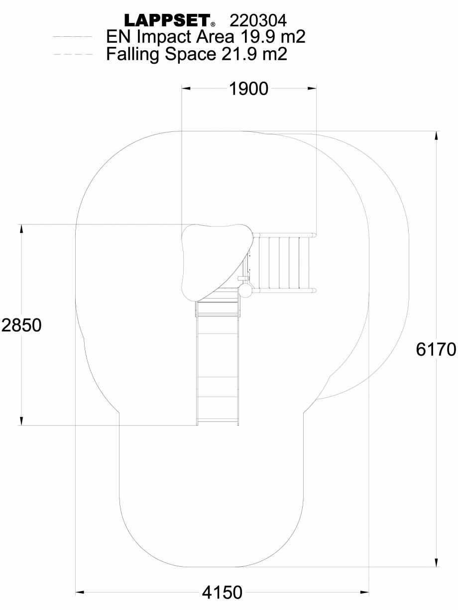 Pagina 1 - CAD-DWG Echipament de joaca pentru copii - 220304(1) LAPPSET Detaliu de produs CLOXX