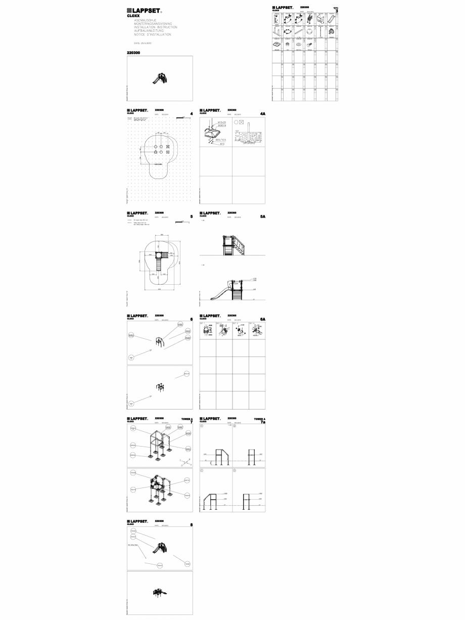 Pagina 1 - CAD-DWG Echipament de joaca pentru copii - 220300(2) LAPPSET Detaliu de produs CLOXX