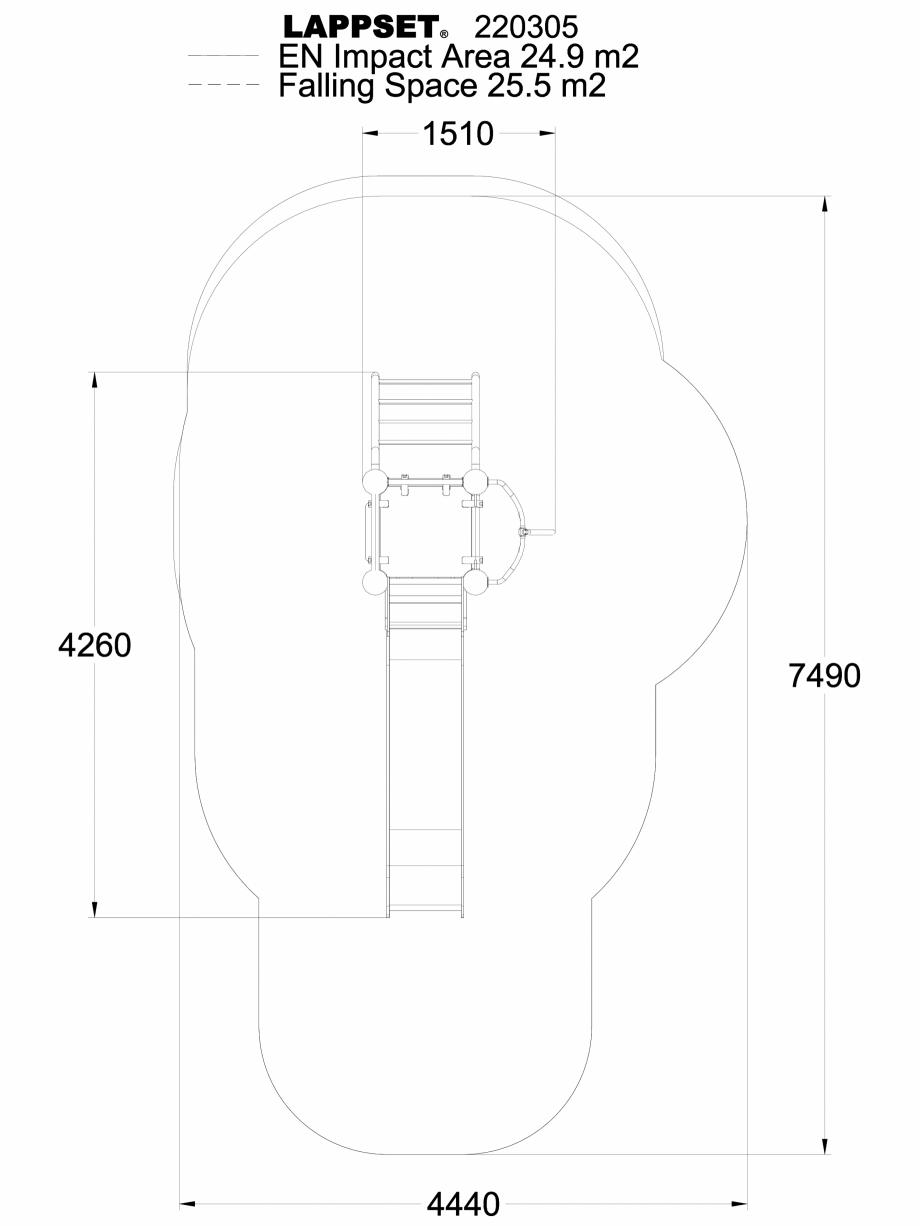 Pagina 1 - CAD-DWG Echipament de joaca pentru copii - 220305(1) LAPPSET Detaliu de produs CLOXX