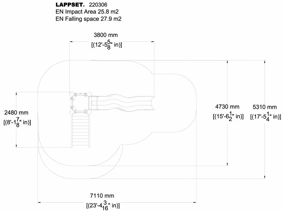 Pagina 1 - CAD-DWG Echipament de joaca pentru copii - 220306(1) LAPPSET Detaliu de produs CLOXX