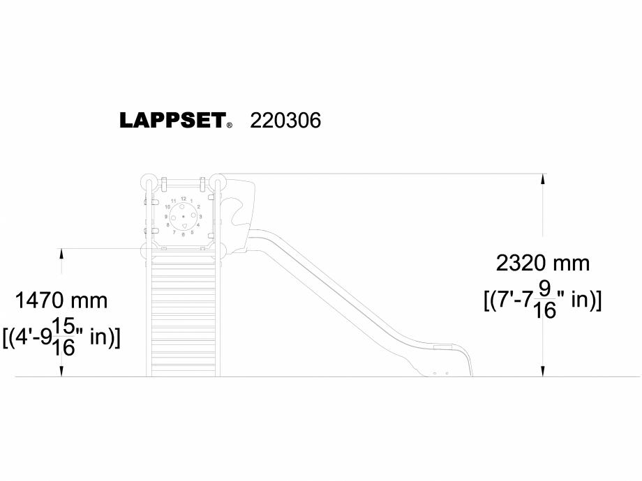 Pagina 1 - CAD-DWG Echipament de joaca pentru copii - 220306 LAPPSET Detaliu de produs CLOXX