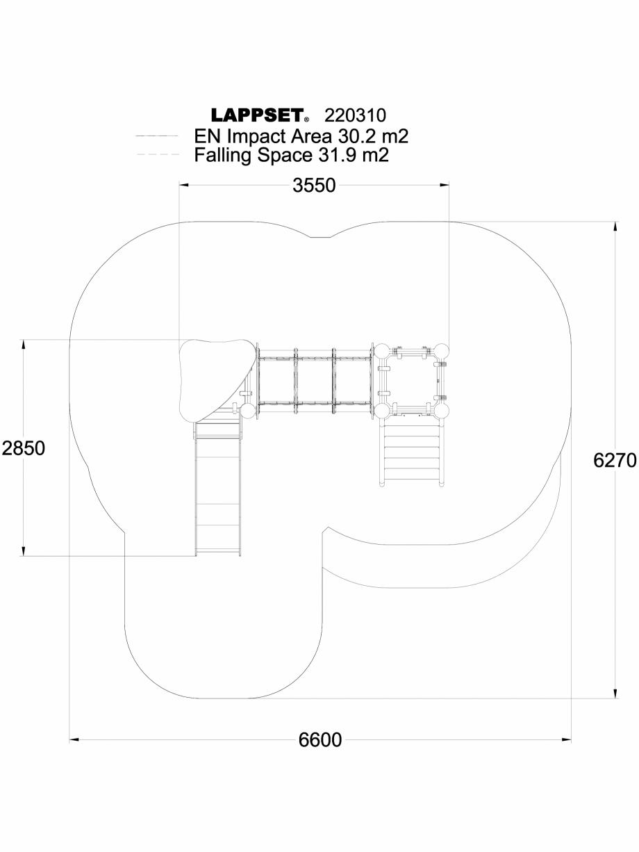 Pagina 1 - CAD-DWG Echipament de joaca pentru copii - 220310(1) LAPPSET Detaliu de produs CLOXX