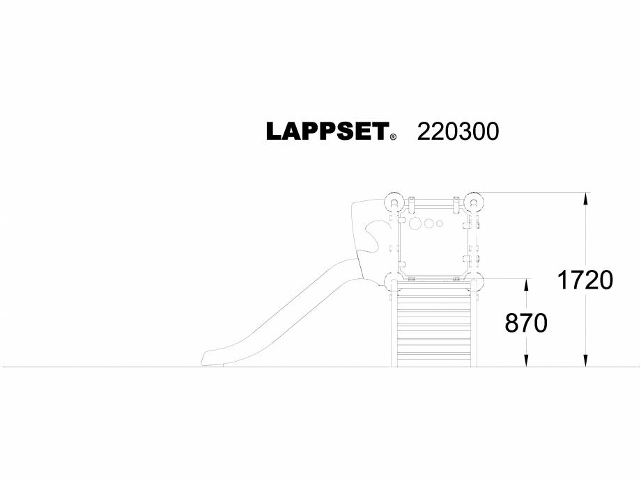 Pagina 1 - CAD-DWG Echipament de joaca pentru copii - 220300 LAPPSET Detaliu de produs CLOXX