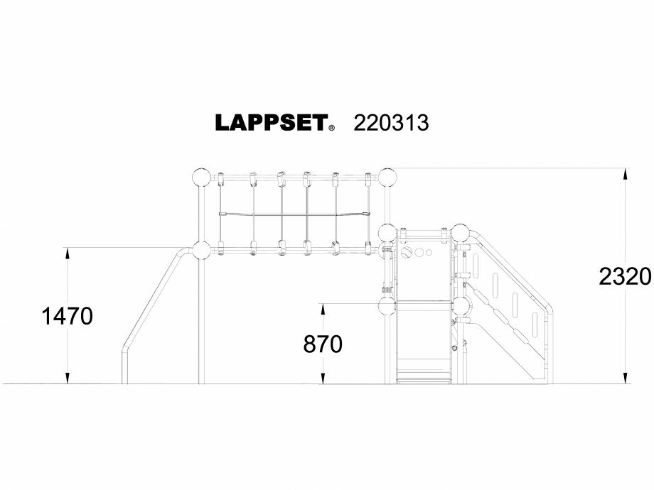 Pagina 1 - CAD-DWG Echipament de joaca pentru copii - 220313 LAPPSET Detaliu de produs CLOXX