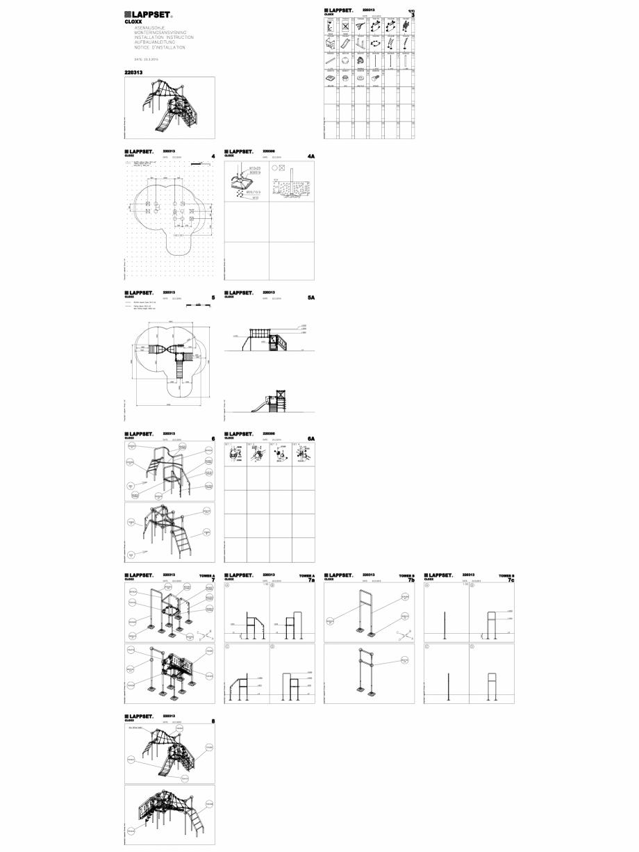 Pagina 1 - CAD-DWG Echipament de joaca pentru copii - 220313(2) LAPPSET Detaliu de produs CLOXX