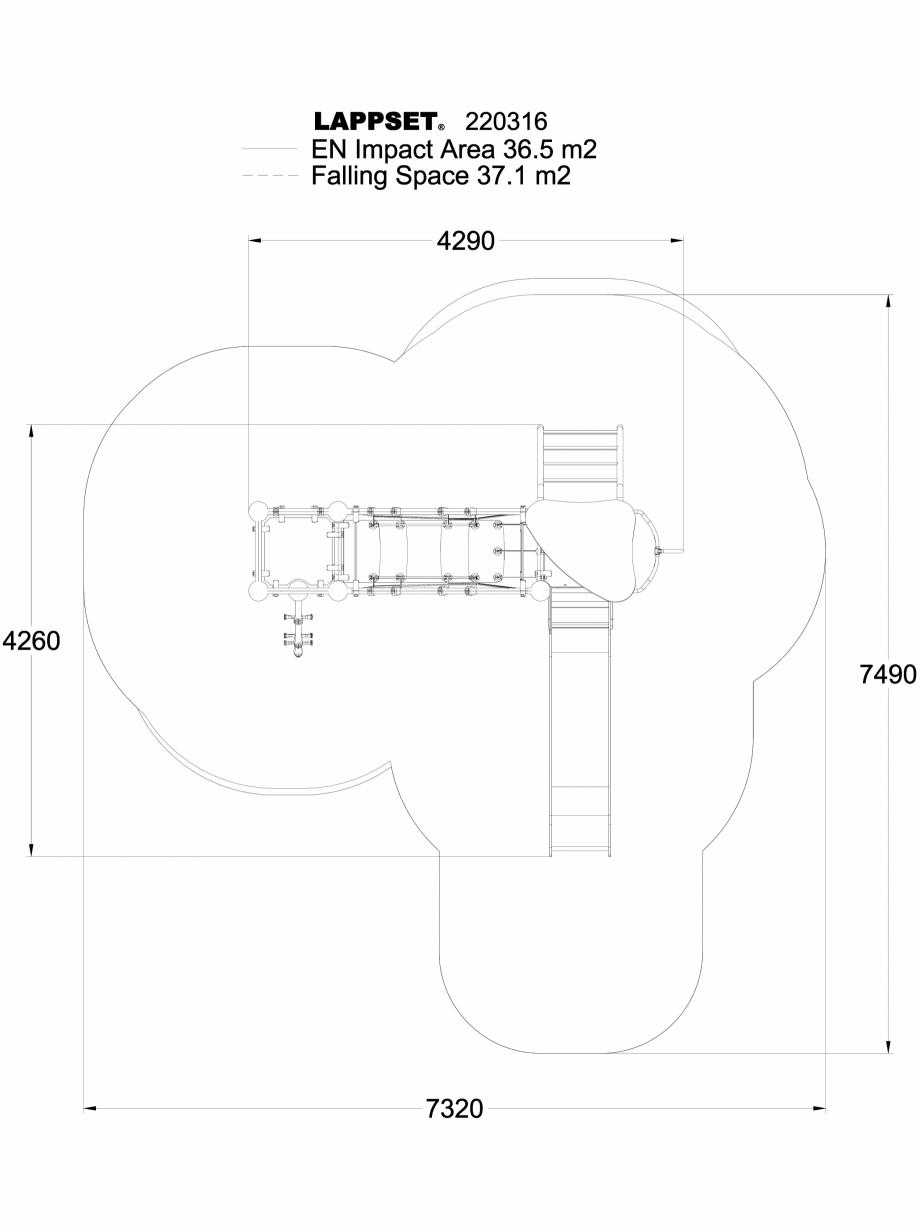Pagina 1 - CAD-DWG Echipament de joaca pentru copii - 220316(1) LAPPSET Detaliu de produs CLOXX