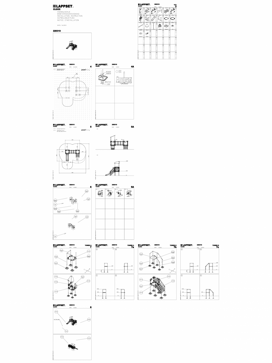 Pagina 1 - CAD-DWG Echipament de joaca pentru copii - 220310(2) LAPPSET Detaliu de produs CLOXX