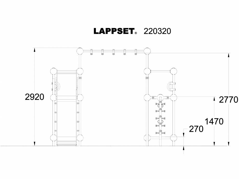 Pagina 1 - CAD-DWG Echipament de joaca pentru copii - 220320(1) LAPPSET Detaliu de produs CLOXX