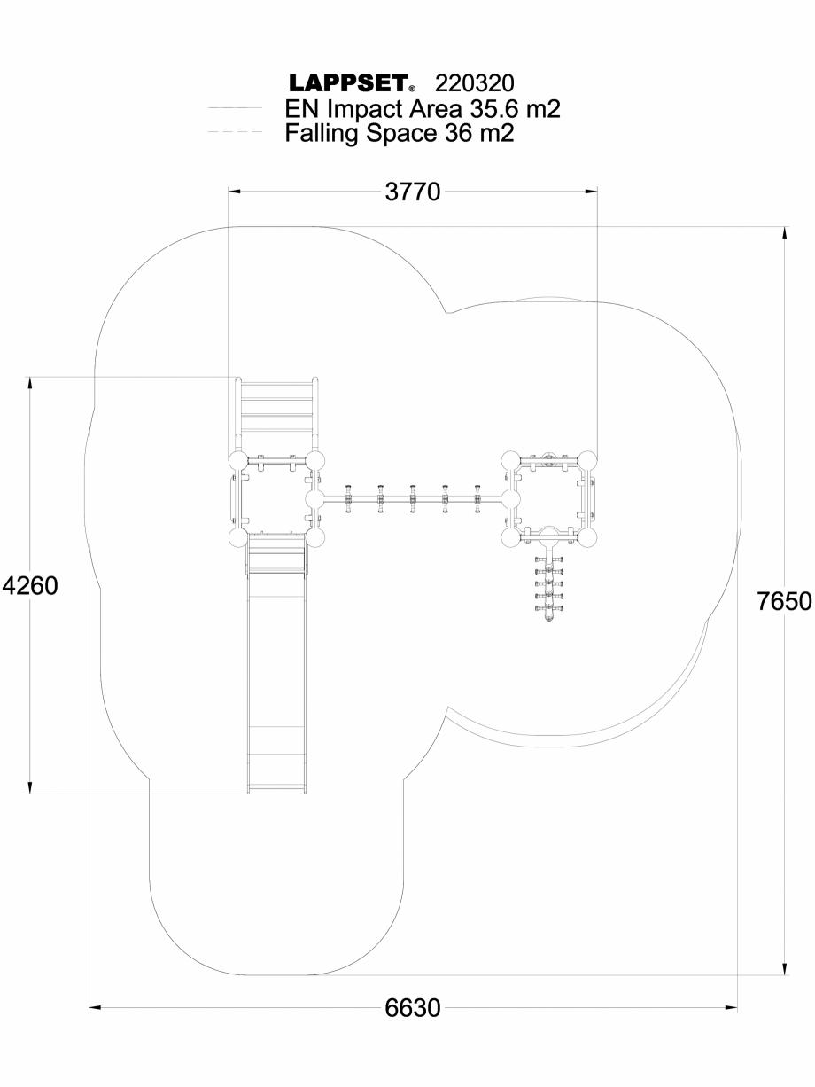 Pagina 1 - CAD-DWG Echipament de joaca pentru copii - 220320 LAPPSET Detaliu de produs CLOXX