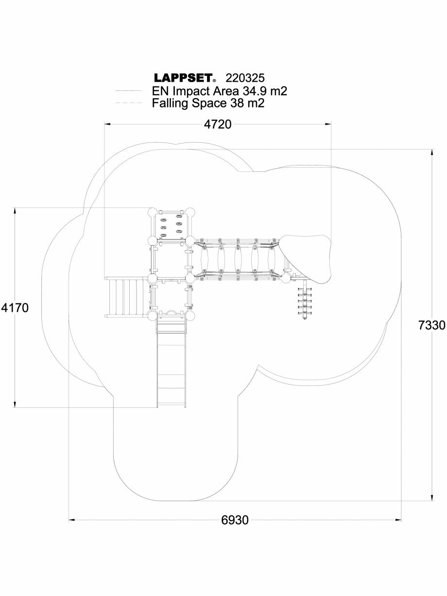 Pagina 1 - CAD-DWG Echipament de joaca pentru copii - 220325(1) LAPPSET Detaliu de produs CLOXX