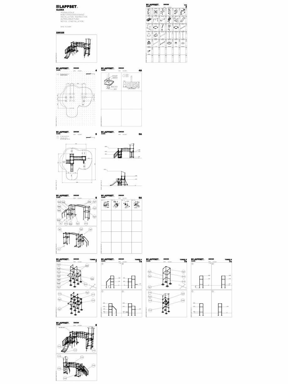 Pagina 1 - CAD-DWG Echipament de joaca pentru copii - 220325(2) LAPPSET Detaliu de produs CLOXX