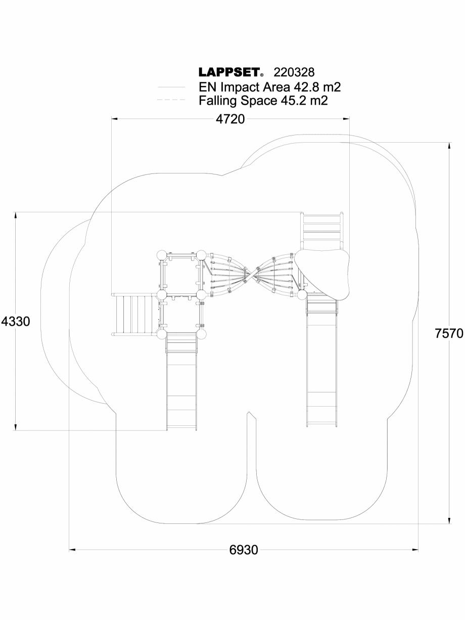 Pagina 1 - CAD-DWG Echipament de joaca pentru copii - 220328(1) LAPPSET Detaliu de produs CLOXX