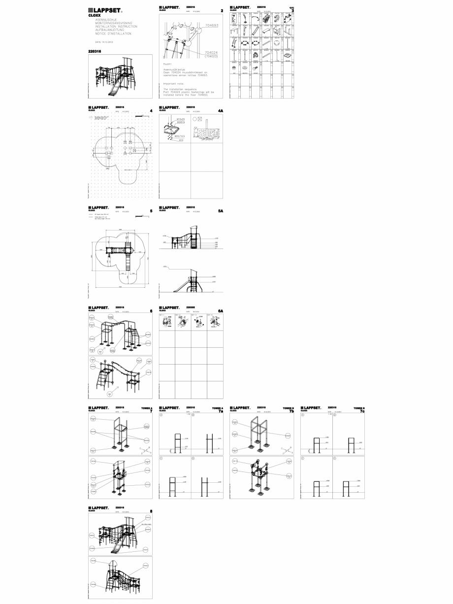 Pagina 1 - CAD-DWG Echipament de joaca pentru copii - 220316(2) LAPPSET Detaliu de produs CLOXX