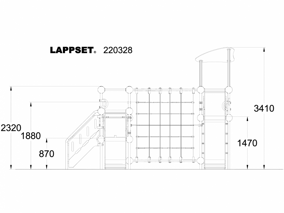 Pagina 1 - CAD-DWG Echipament de joaca pentru copii - 220328 LAPPSET Detaliu de produs CLOXX