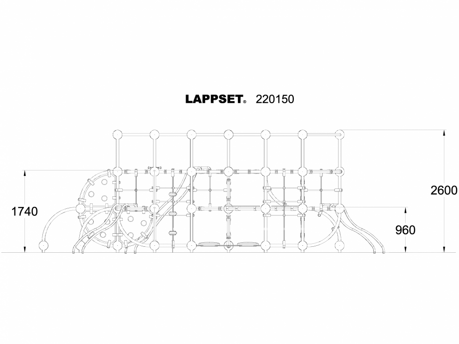 Pagina 1 - CAD-DWG Echipament de joaca pentru copii - 220150 LAPPSET Detaliu de produs CLOXX