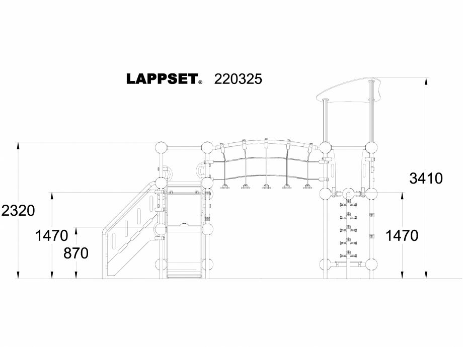 Pagina 1 - CAD-DWG Echipament de joaca pentru copii - 220325 LAPPSET Detaliu de produs CLOXX