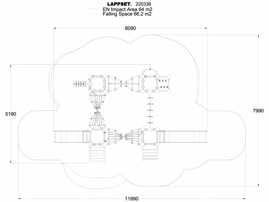 Pagina 1 - CAD-DWG Echipament de joaca pentru copii - 220336(1) LAPPSET Detaliu de produs CLOXX