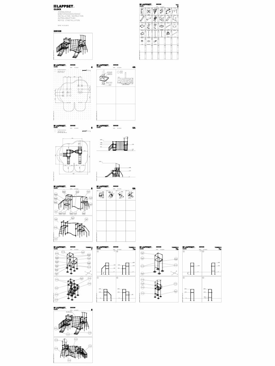 Pagina 1 - CAD-DWG Echipament de joaca pentru copii - 220328(2) LAPPSET Detaliu de produs CLOXX