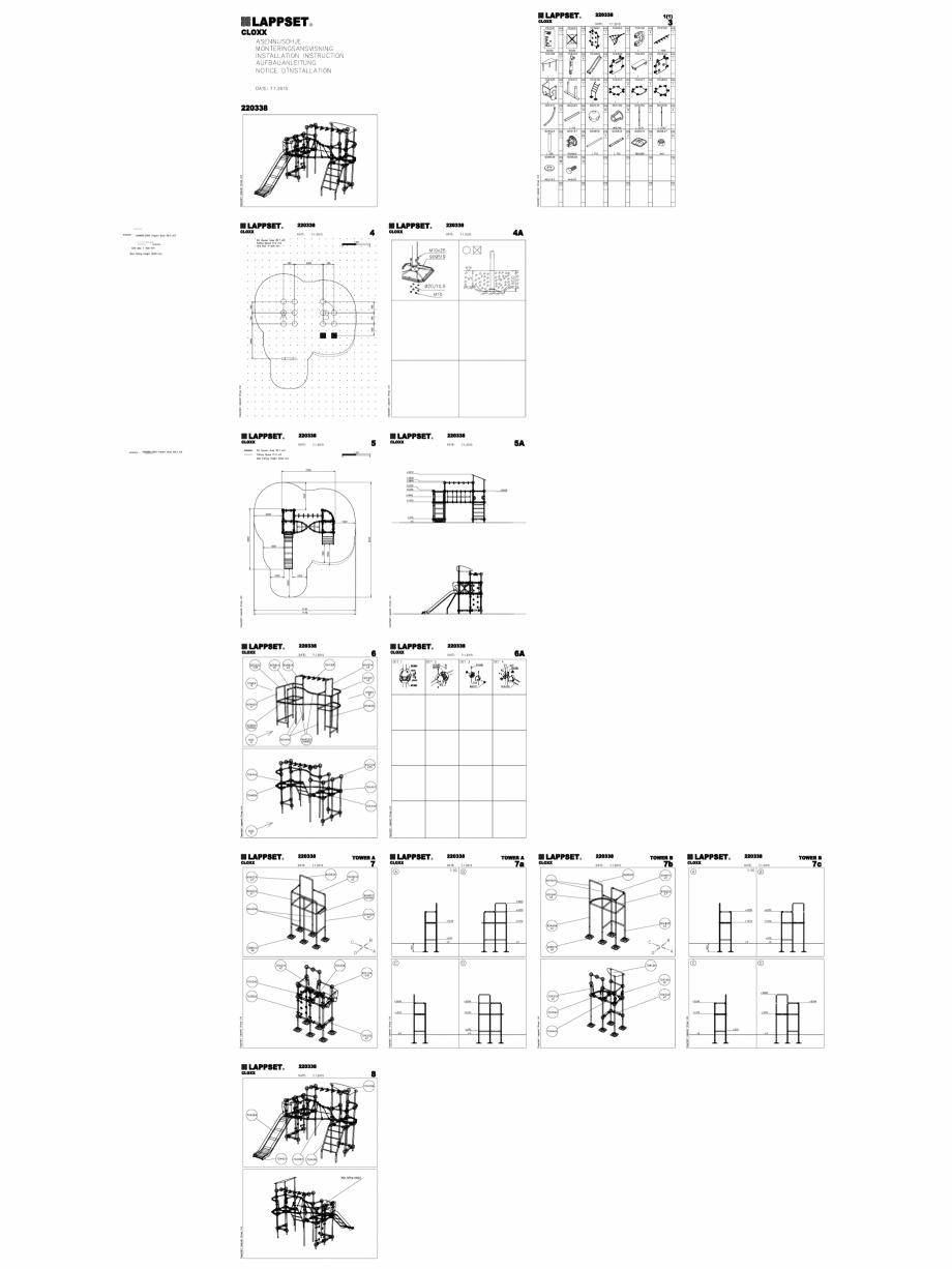 Pagina 1 - CAD-DWG Echipament de joaca pentru copii - 220338(2) LAPPSET Detaliu de produs CLOXX