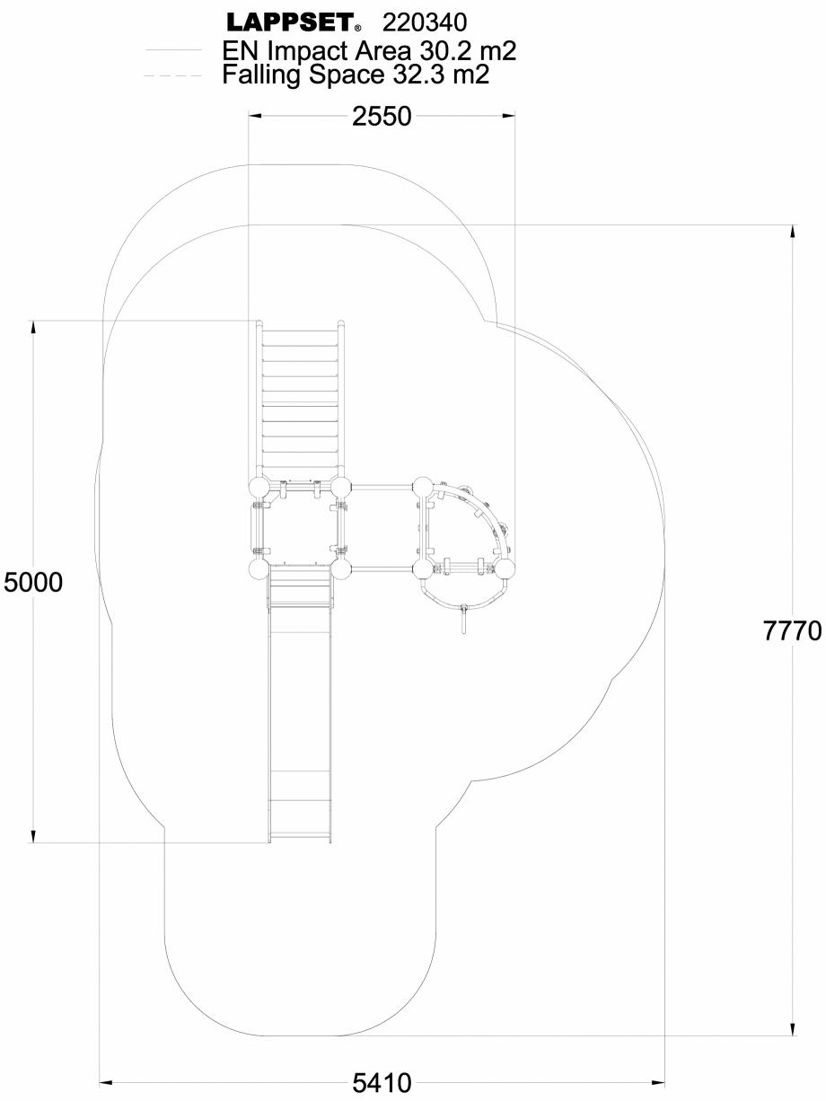 Pagina 1 - CAD-DWG Echipament de joaca pentru copii - 220340(1) LAPPSET Detaliu de produs CLOXX