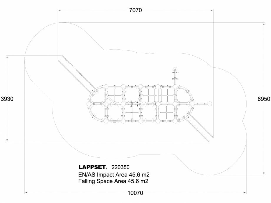 Pagina 1 - CAD-DWG Echipament de joaca pentru copii - 220350(1) LAPPSET Detaliu de produs CLOXX