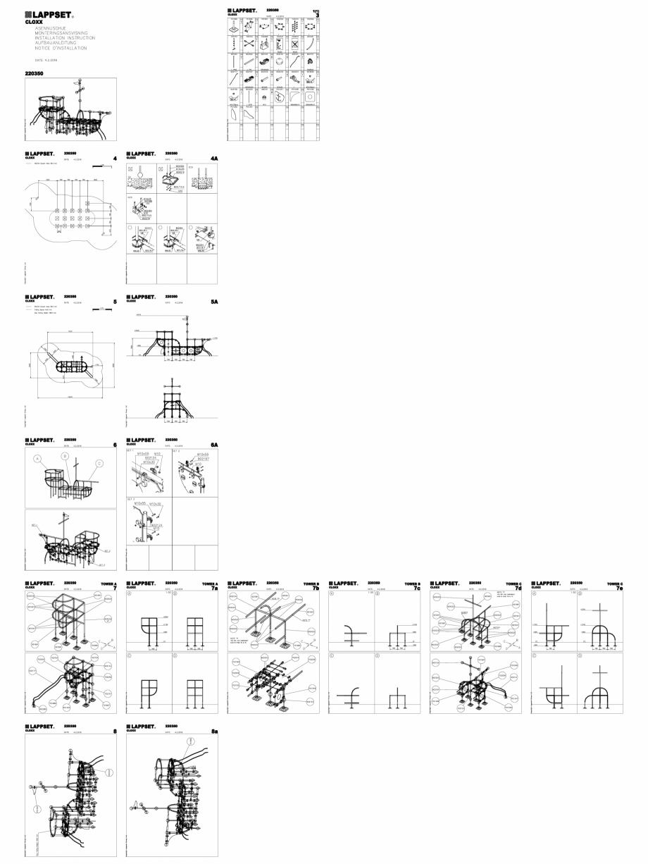 Pagina 1 - CAD-DWG Echipament de joaca pentru copii - 220350(2) LAPPSET Detaliu de produs CLOXX