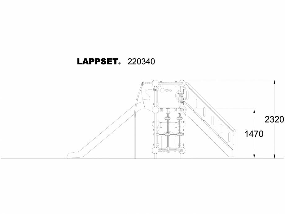 Pagina 1 - CAD-DWG Echipament de joaca pentru copii - 220340 LAPPSET Detaliu de produs CLOXX