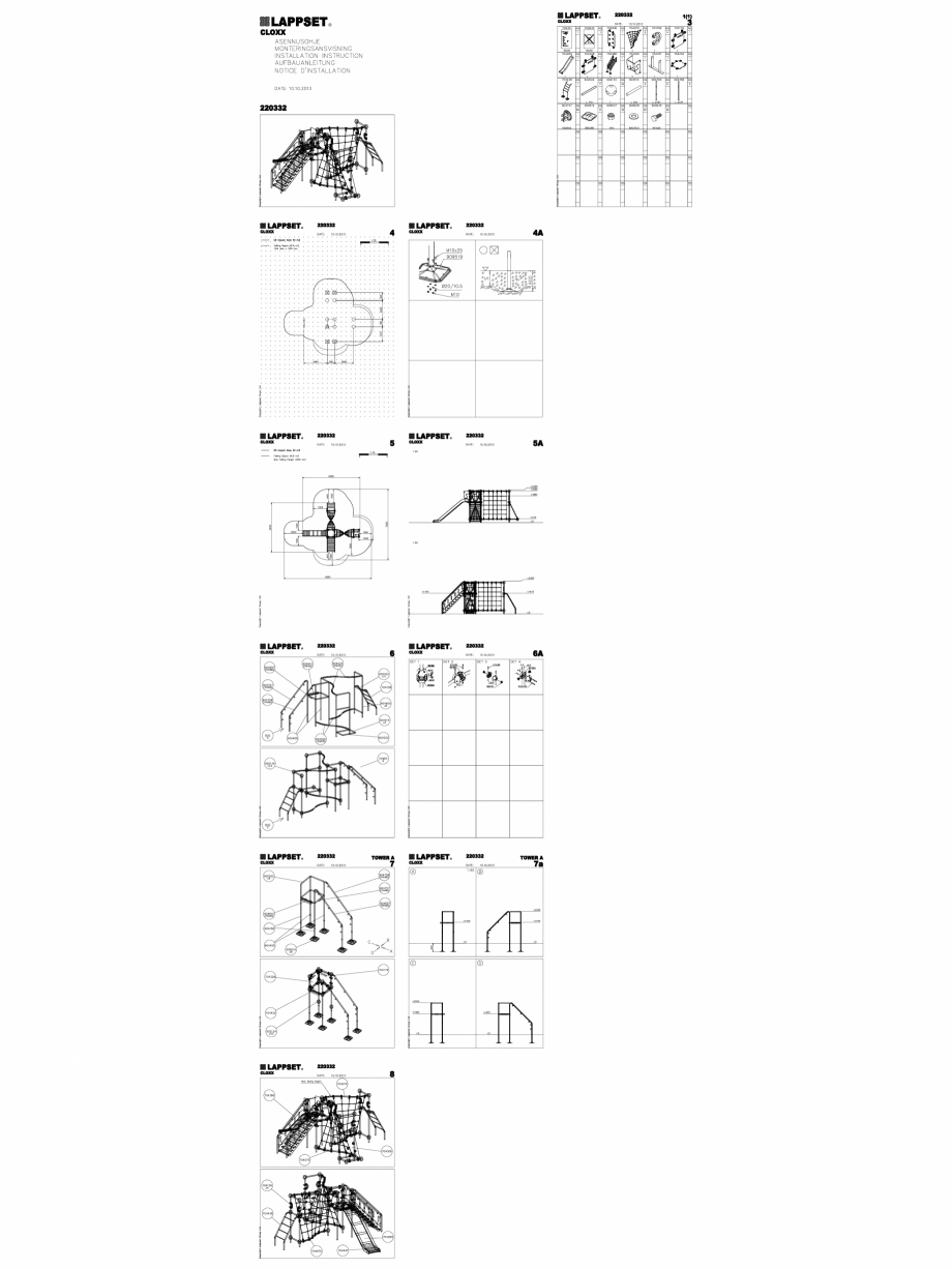 Pagina 1 - CAD-DWG Echipament de joaca pentru copii - 220332(2) LAPPSET Detaliu de produs CLOXX