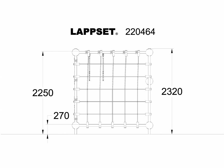 Pagina 1 - CAD-DWG Echipament de joaca pentru copii - 220464 LAPPSET Detaliu de produs CLOXX