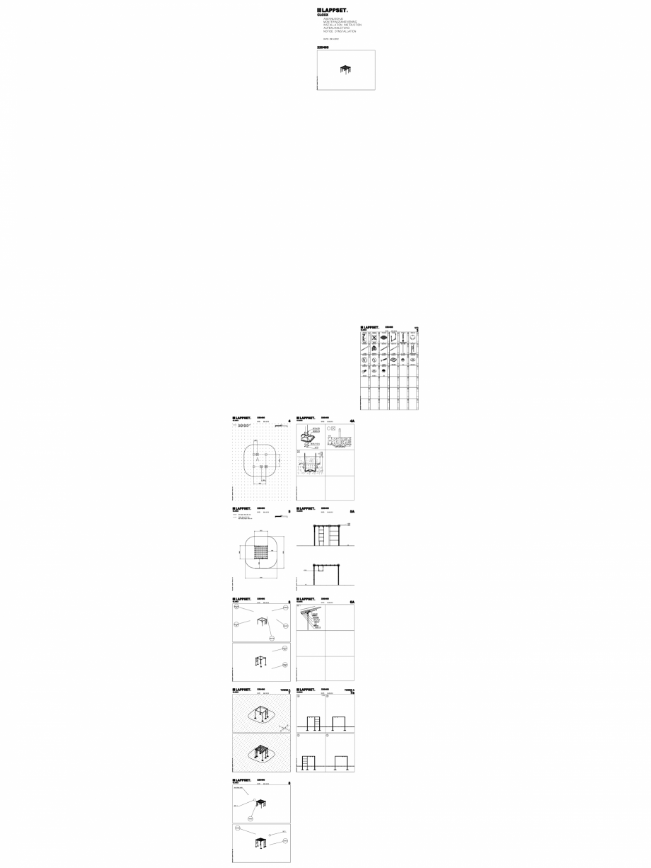 Pagina 1 - CAD-DWG Echipament de joaca pentru copii - 220460(2) LAPPSET Detaliu de produs CLOXX