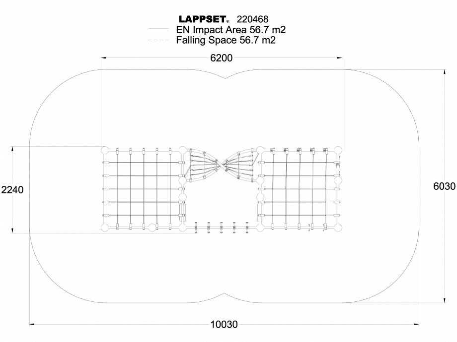 Pagina 1 - CAD-DWG Echipament de joaca pentru copii - 220468(1) LAPPSET Detaliu de produs CLOXX