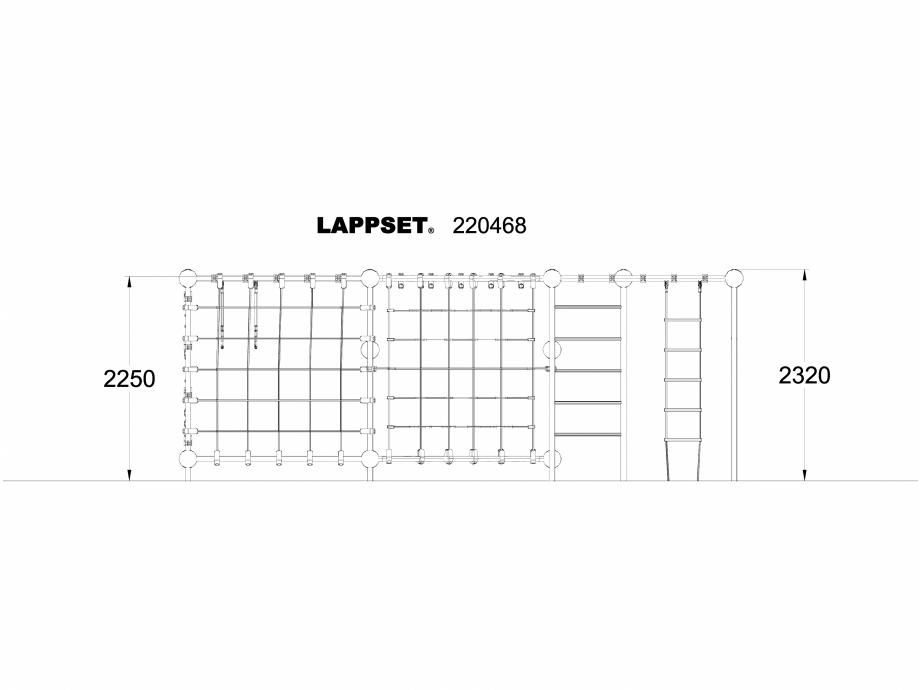 Pagina 1 - CAD-DWG Echipament de joaca pentru copii - 220468 LAPPSET Detaliu de produs CLOXX