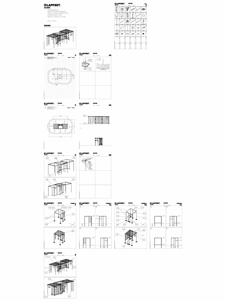 Pagina 1 - CAD-DWG Echipament de joaca pentru copii - 220468(2) LAPPSET Detaliu de produs CLOXX