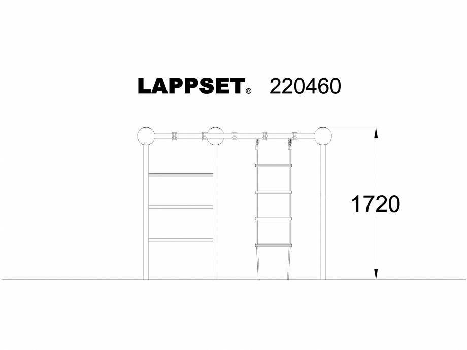 Pagina 1 - CAD-DWG Echipament de joaca pentru copii - 220460 LAPPSET Detaliu de produs CLOXX