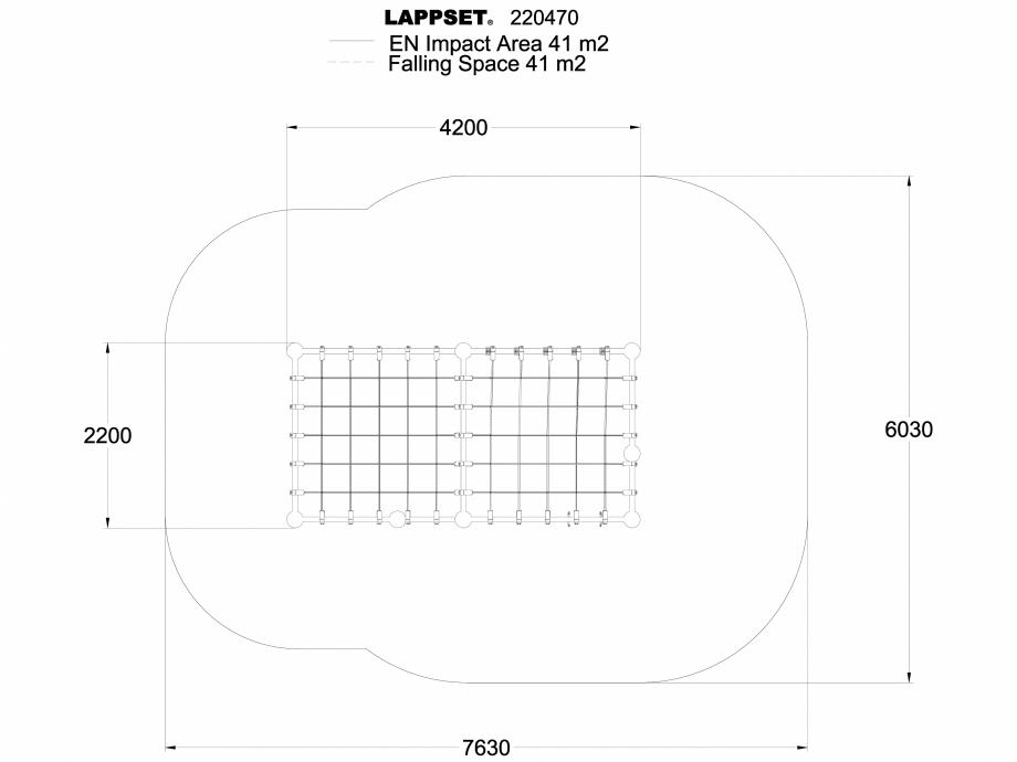 Pagina 1 - CAD-DWG Echipament de joaca pentru copii - 220470(1) LAPPSET Detaliu de produs CLOXX