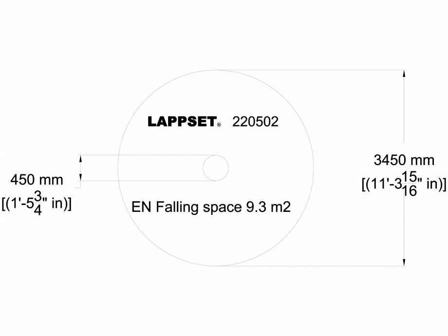 Pagina 1 - CAD-DWG Echipament de joaca pentru copii - 220502 LAPPSET Detaliu de produs CLOXX