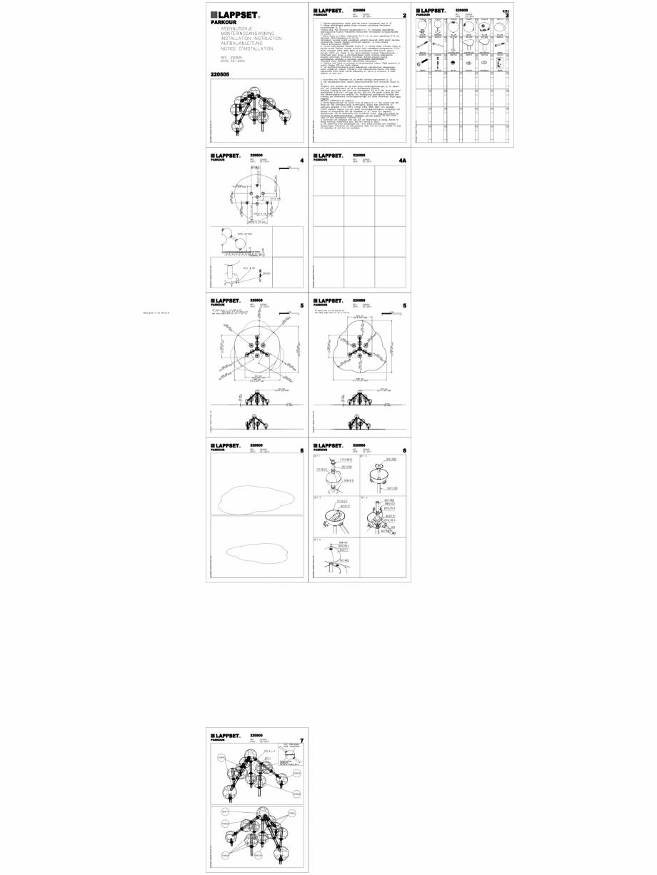 Pagina 1 - CAD-DWG Echipament de joaca pentru copii - 220505(2) LAPPSET Detaliu de produs CLOXX