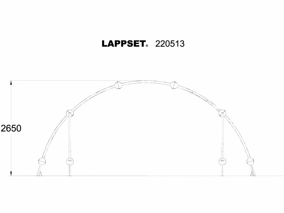 Pagina 1 - CAD-DWG Echipament de joaca pentru copii - 220513 LAPPSET Detaliu de produs CLOXX