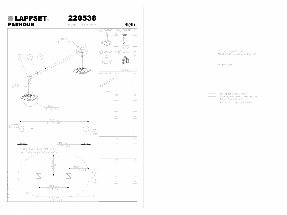 Pagina 1 - CAD-DWG Echipament de joaca pentru copii - 220538(1) LAPPSET Detaliu de produs CLOXX