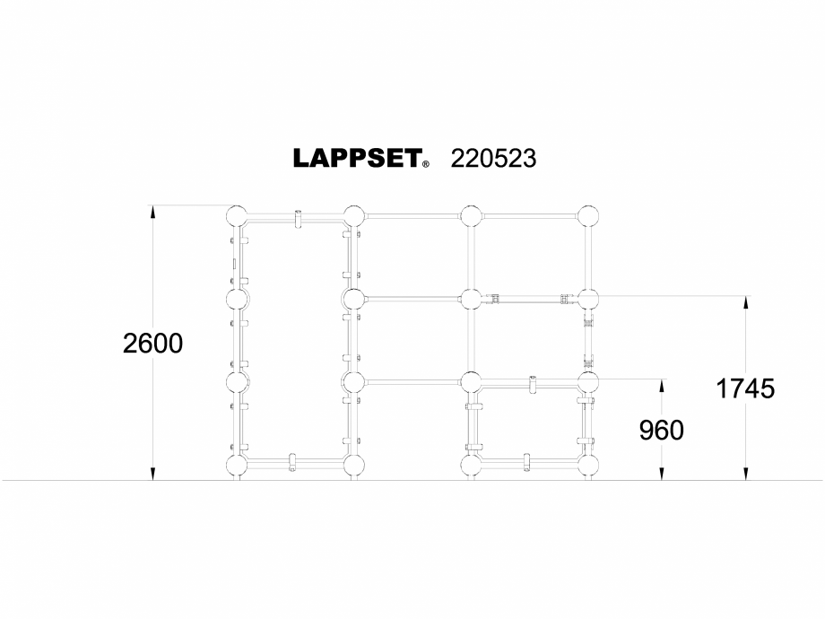 Pagina 1 - CAD-DWG Echipament de joaca pentru copii - 220523 LAPPSET Detaliu de produs CLOXX