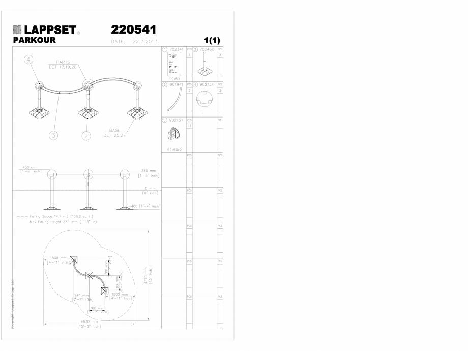 Pagina 1 - CAD-DWG Echipament de joaca pentru copii - 220541 (1) LAPPSET Detaliu de produs CLOXX