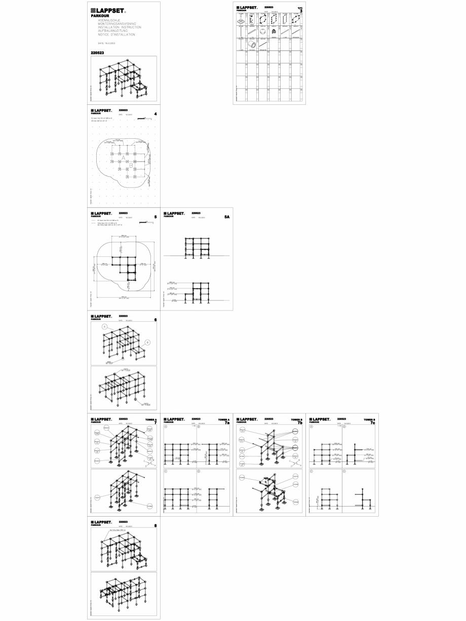 Pagina 1 - CAD-DWG Echipament de joaca pentru copii - 220523(2) LAPPSET Detaliu de produs CLOXX