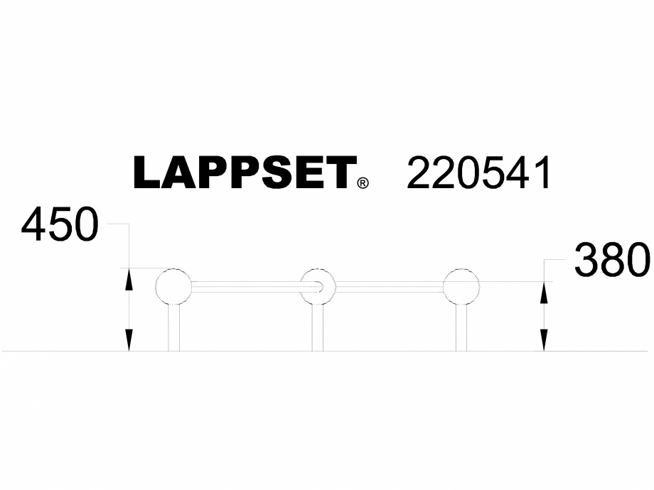 Pagina 1 - CAD-DWG Echipament de joaca pentru copii - 220541 LAPPSET Detaliu de produs CLOXX