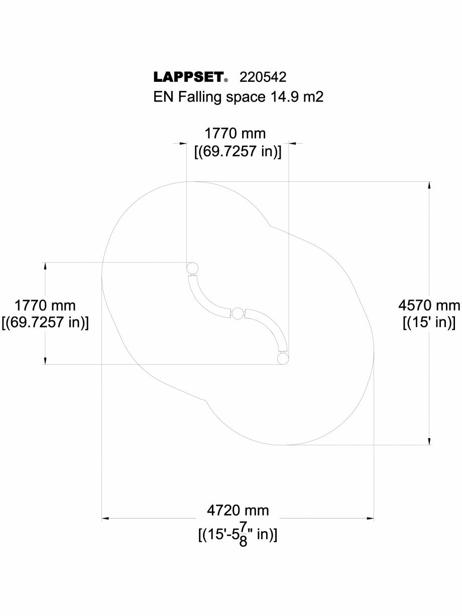 Pagina 1 - CAD-DWG Echipament de joaca pentru copii - 220542(2) LAPPSET Detaliu de produs CLOXX