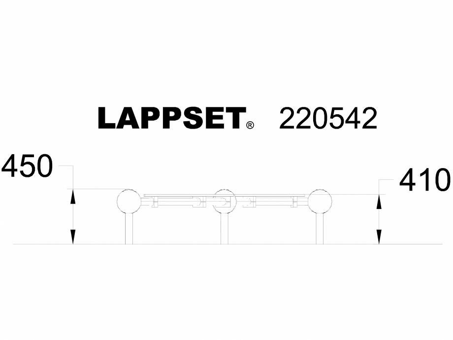 Pagina 1 - CAD-DWG Echipament de joaca pentru copii - 220542 LAPPSET Detaliu de produs CLOXX