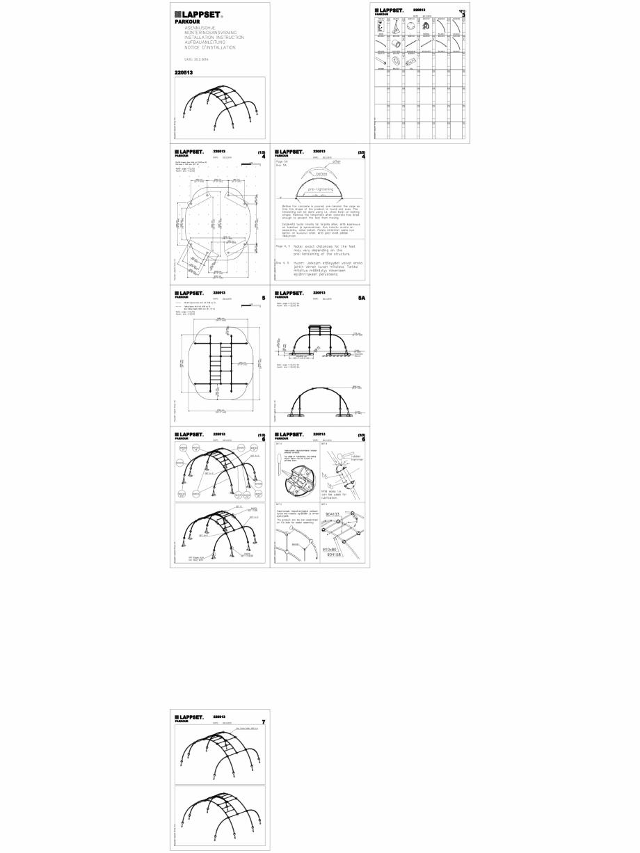 Pagina 1 - CAD-DWG Echipament de joaca pentru copii - 220513(2) LAPPSET Detaliu de produs CLOXX