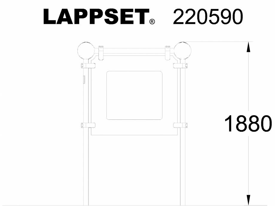 Pagina 1 - CAD-DWG Echipament de joaca pentru copii - 220590(1) LAPPSET Detaliu de produs CLOXX